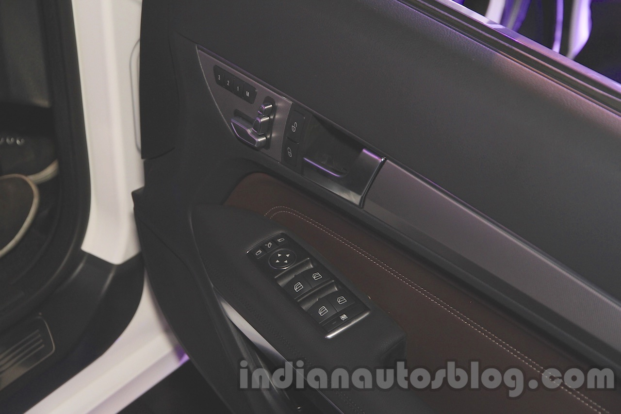 Mercedes E400 Cabriolet leather door pad from the launch in India