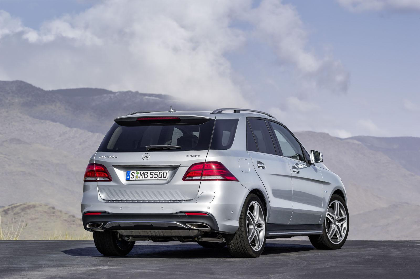 Mercedes GLE rear three quarter official image