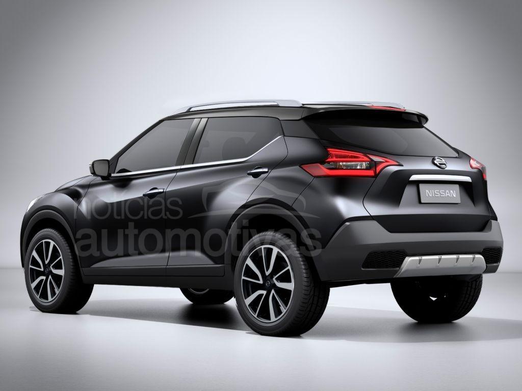 Nissan Kicks rear production version rendering