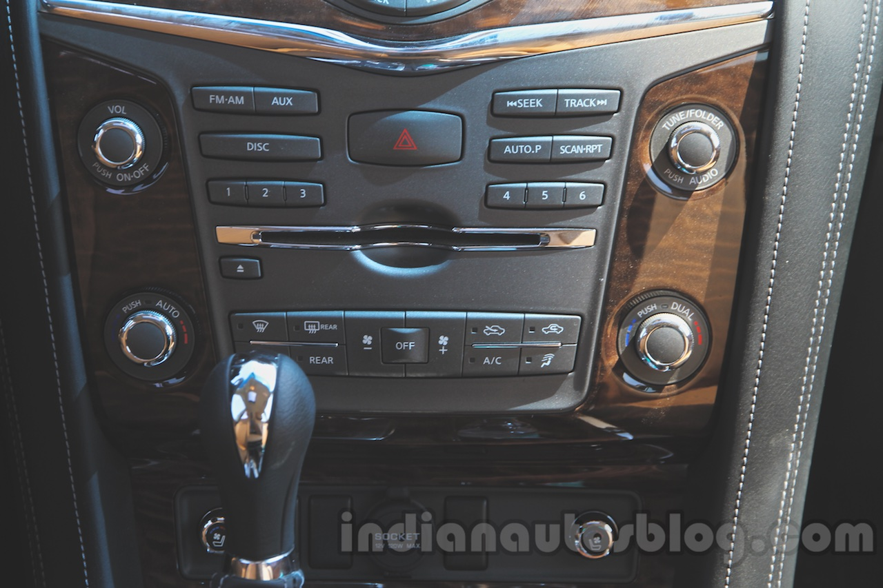 Nissan Patrol center console from its preview in India