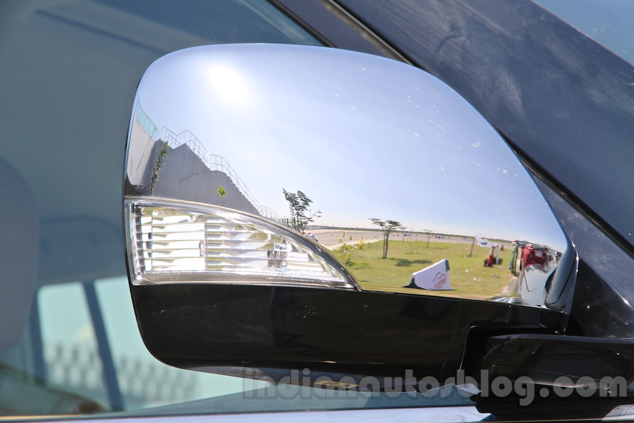 Nissan Patrol chrome mirror enclosure from its preview in India