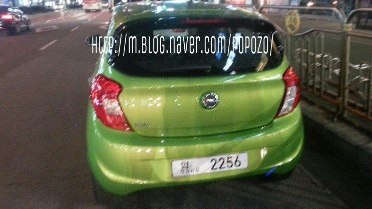 Opel Karl rear spotted in Korea