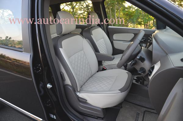 Renault Lodgy India spec seats