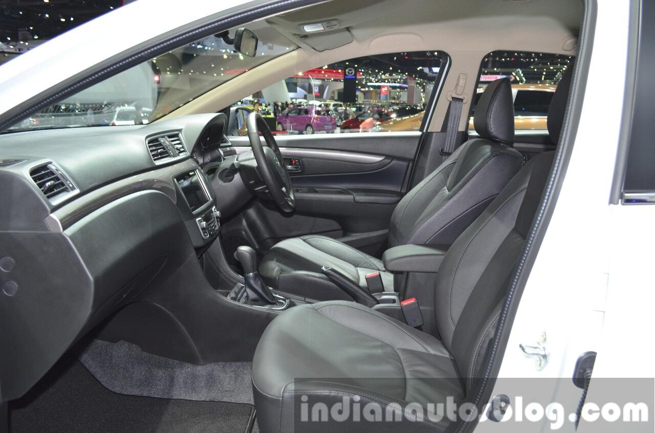Suzuki Ciaz Aero front seats at the 2015 Bangkok Motor Show