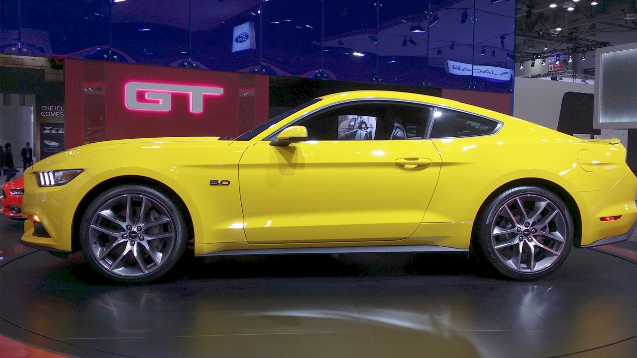 2015 Ford Mustang Coupe side at the 2015 Seoul Motor Show