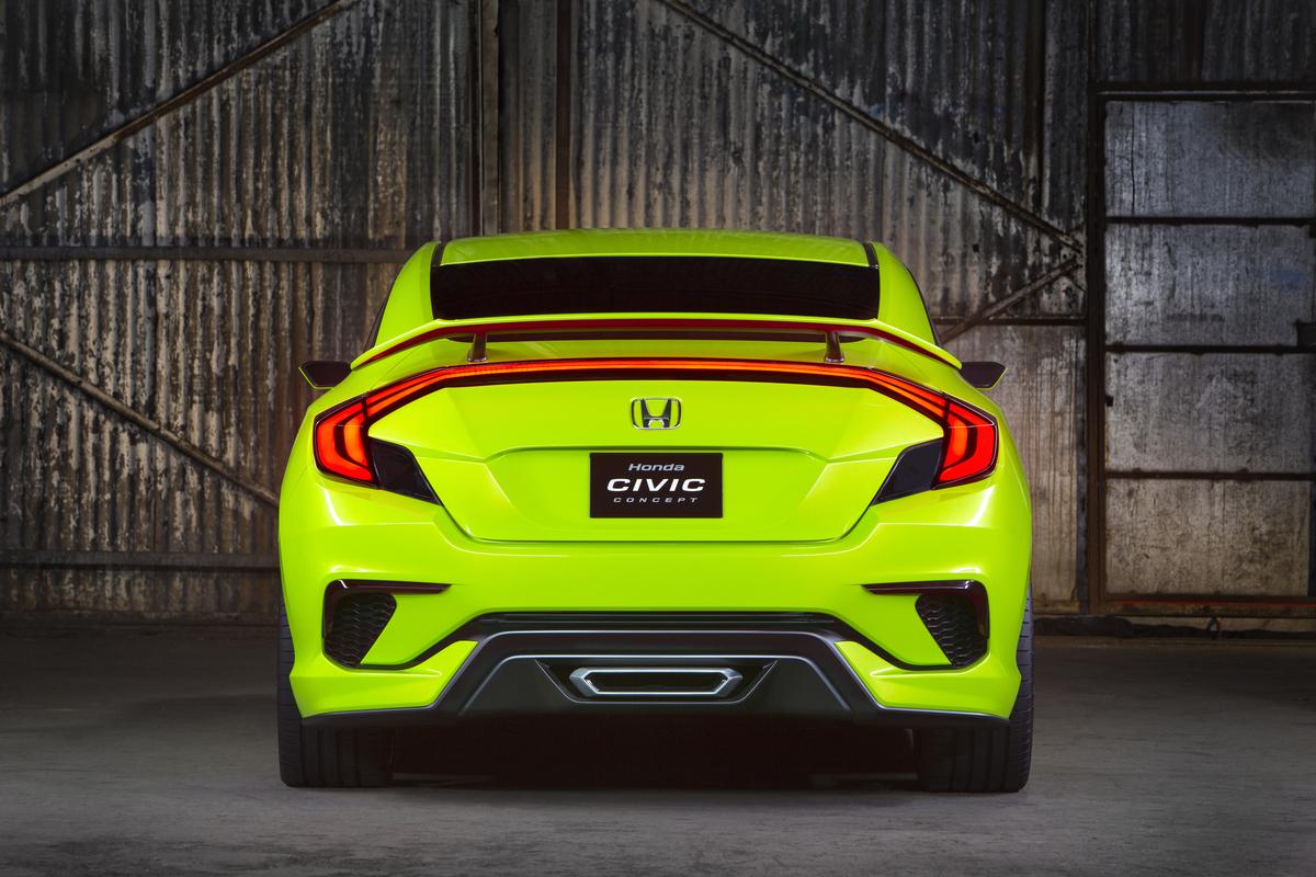 2015 Honda Civic Concept official image rear