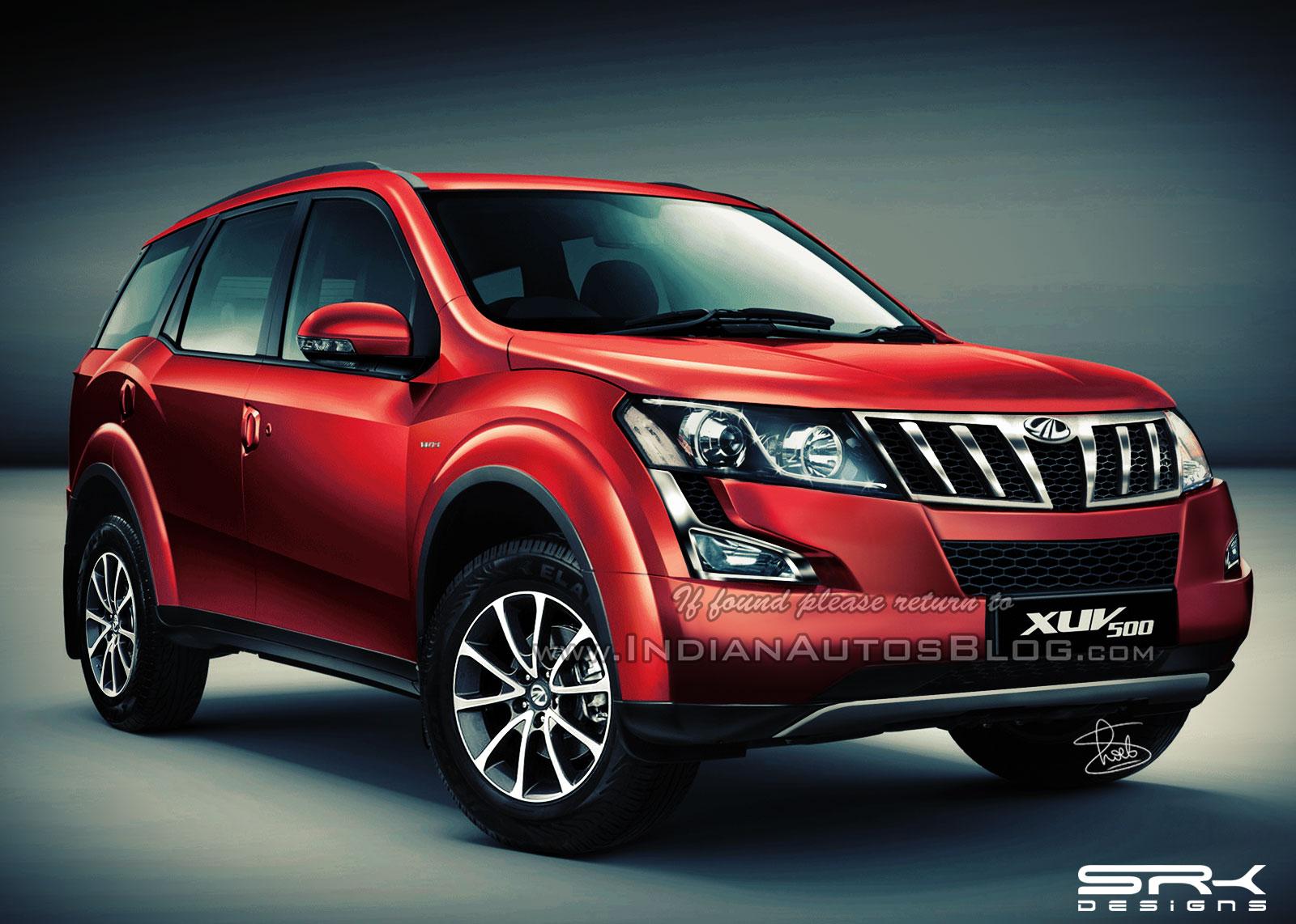 2015 Mahindra XUV500 facelift IAB rendering