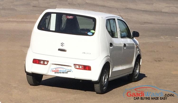 2015 Suzuki Alto rear India spied