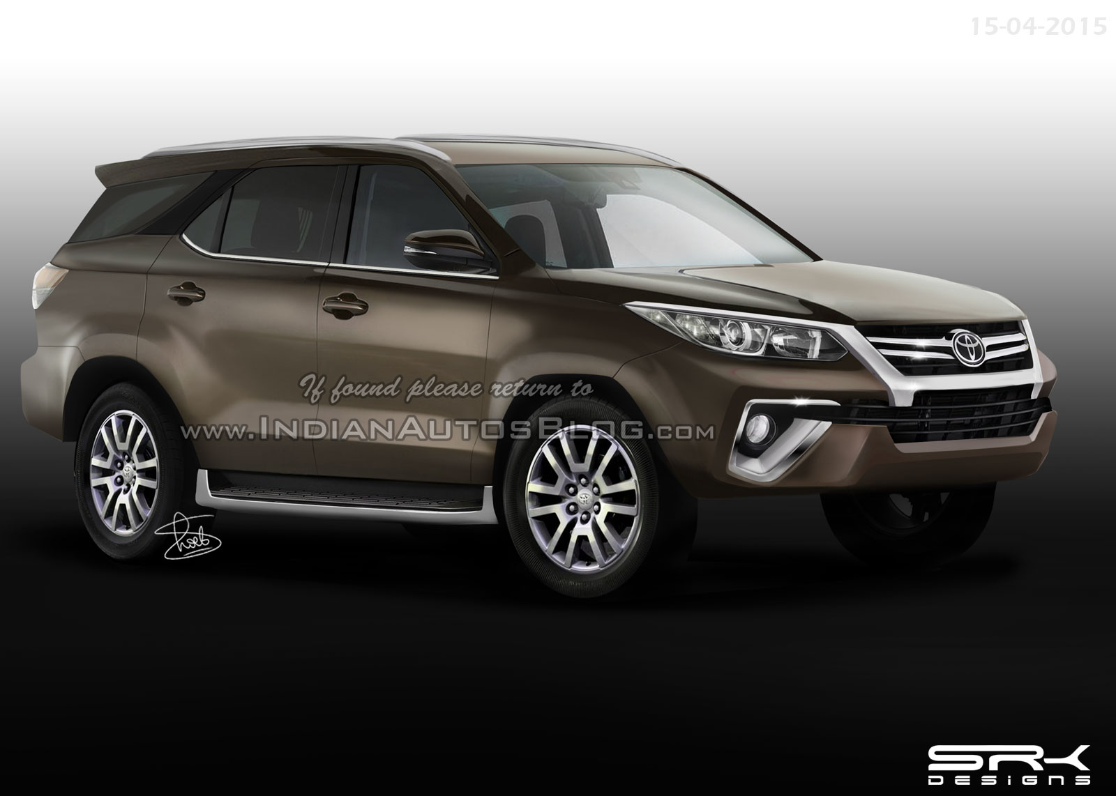 2016 Toyota Fortuner Likely To World Premiere On July 28