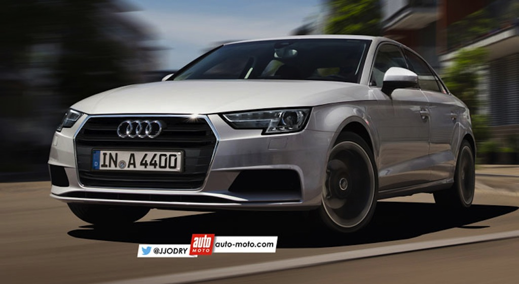 2016 Audi A4 front rendering