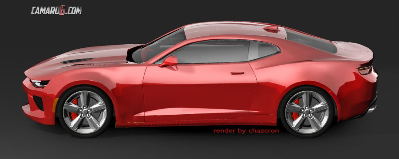 2016 Chevrolet Camaro side rendering