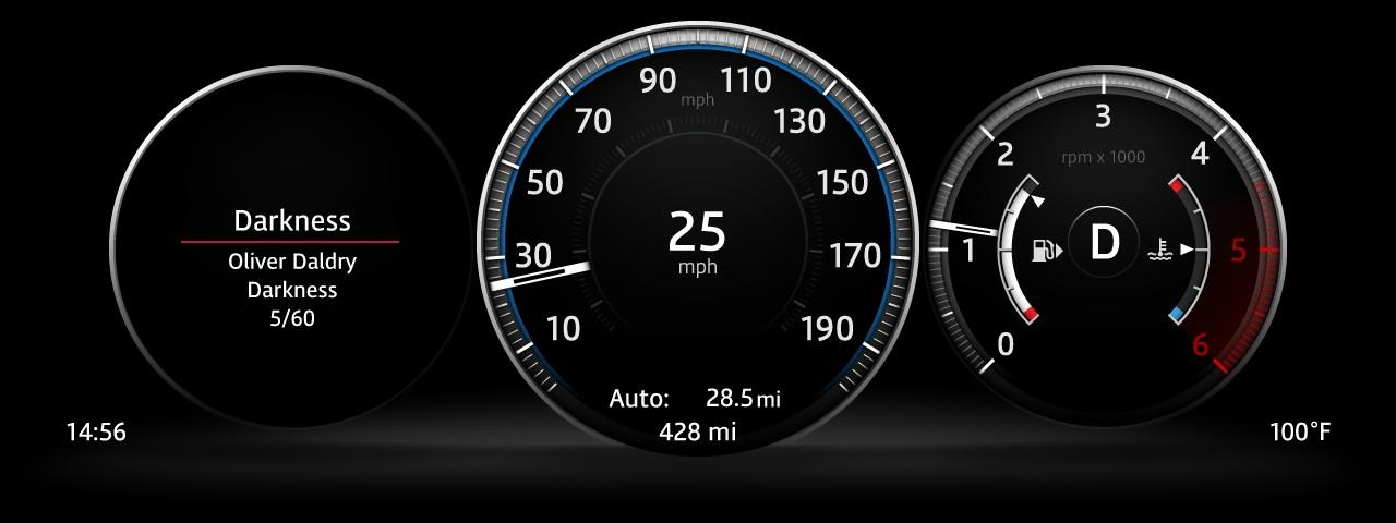 2016 Jaguar XF instrument cluster at the 2015 New York Auto Show