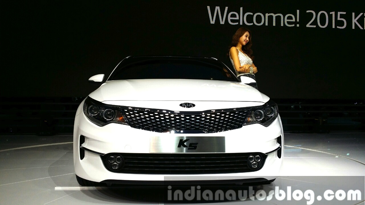 2016 Kia K5 2016 Kia Optima front at Seoul Motor Show 2015