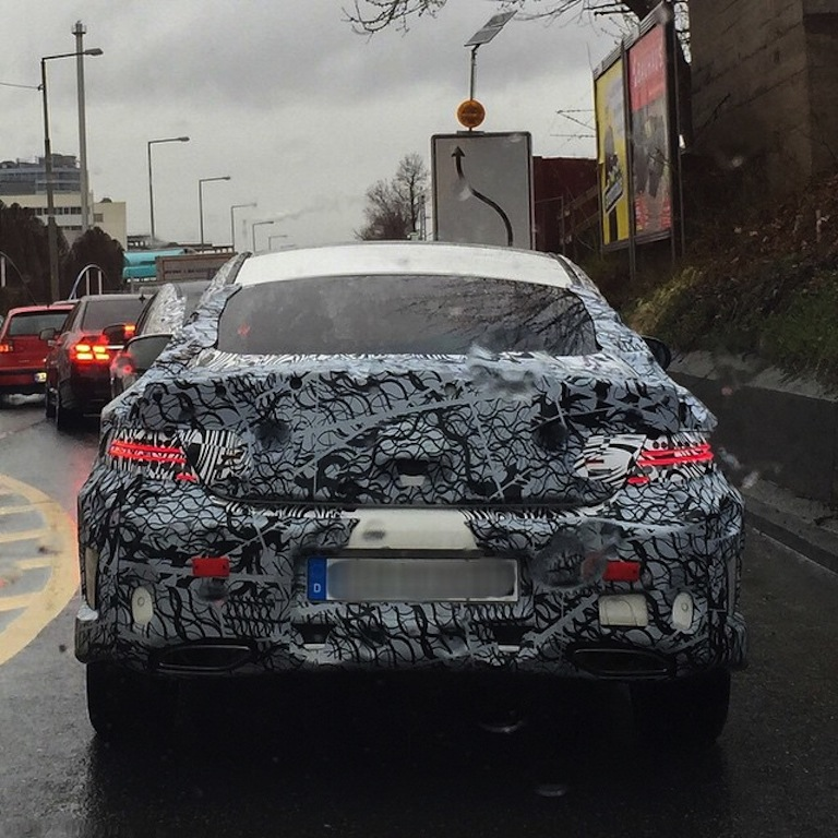 2016 Mercedes C Class Coupe rear spied