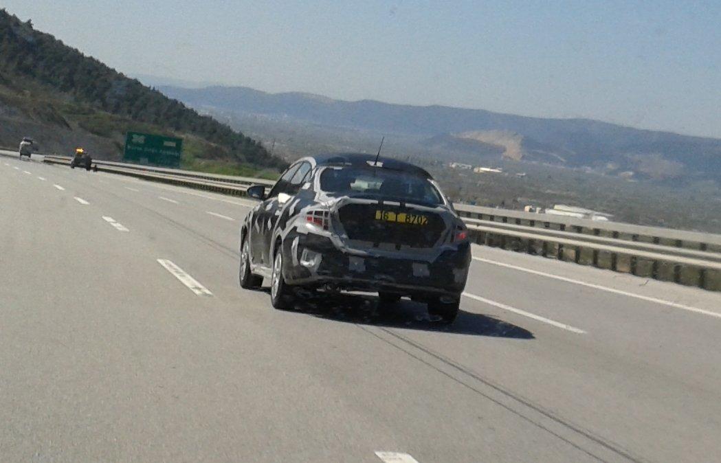 2017 Fiat Linea rear spied
