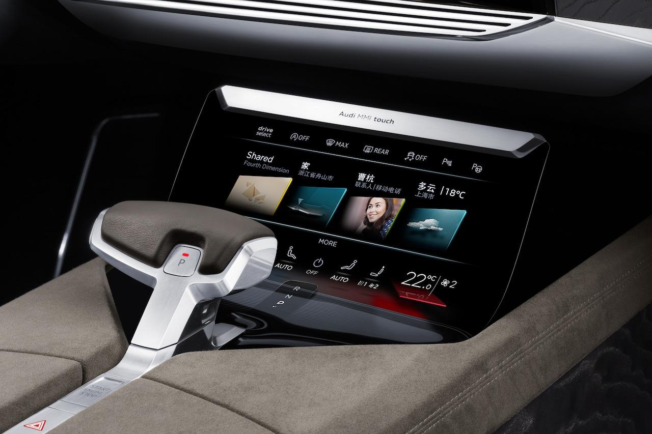 Audi Prologue allroad concept center console