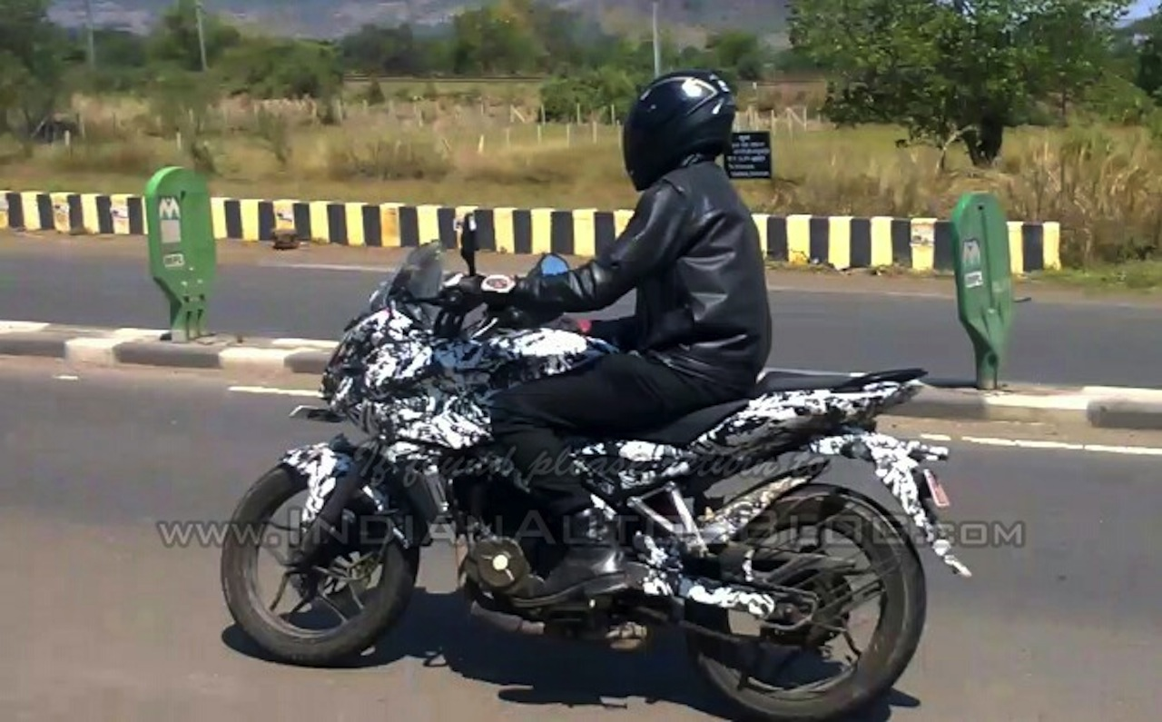 Bajaj Pulsar 150AS side IAB spied