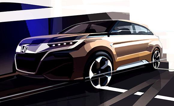 Honda SUV Concept for 2015 Shanghai Auto Show