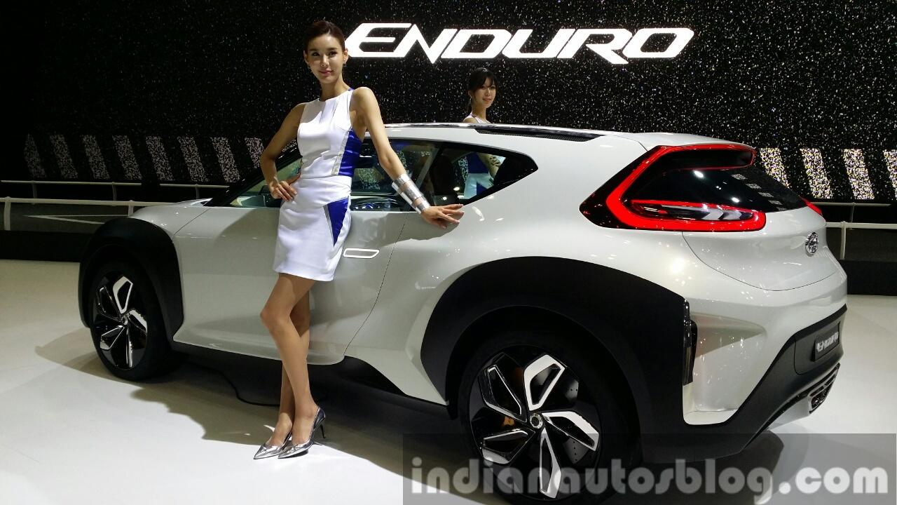 Hyundai Enduro Concept rear quarter at the Seoul Motor Show 2015