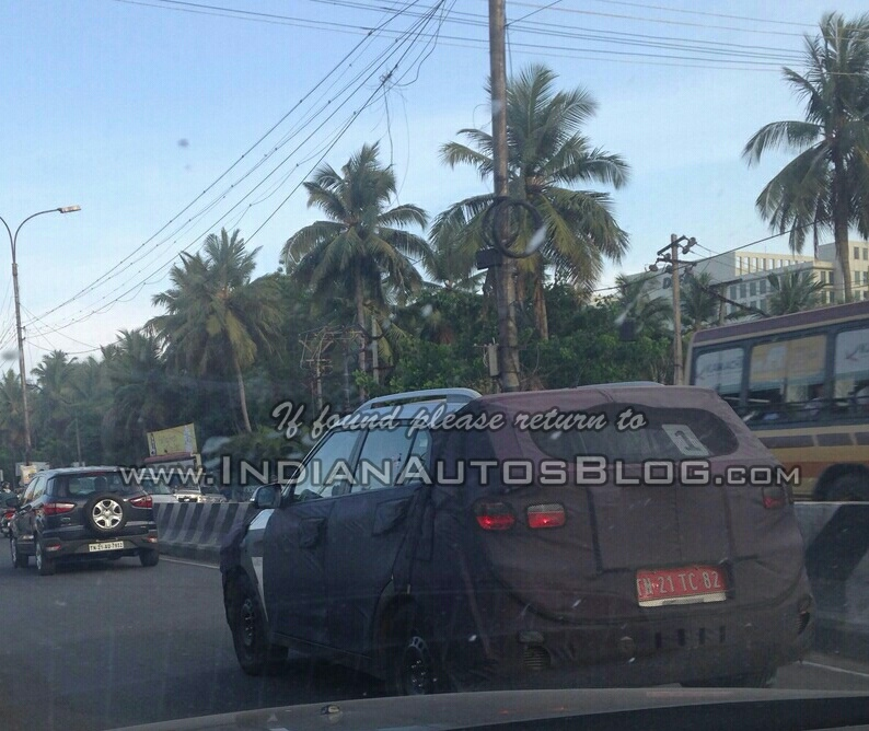 Hyundai ix25 rear quarter spied in Chennai