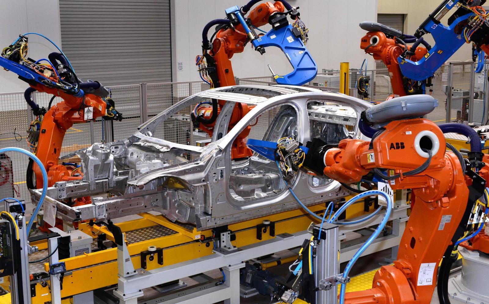 Jaguar XE enters production robot assembly
