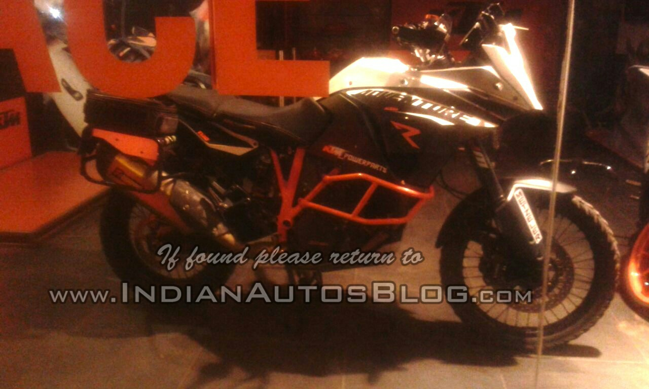 KTM 1190 Adventure R side spied in India