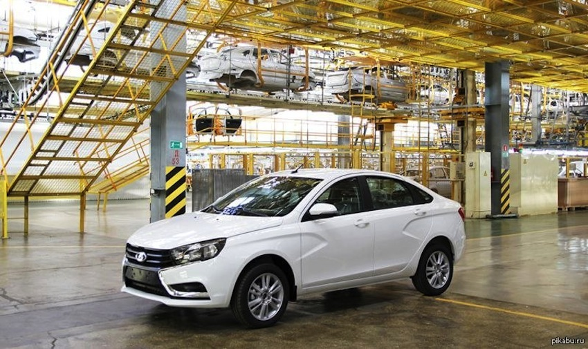 Lada Vesta production version official image