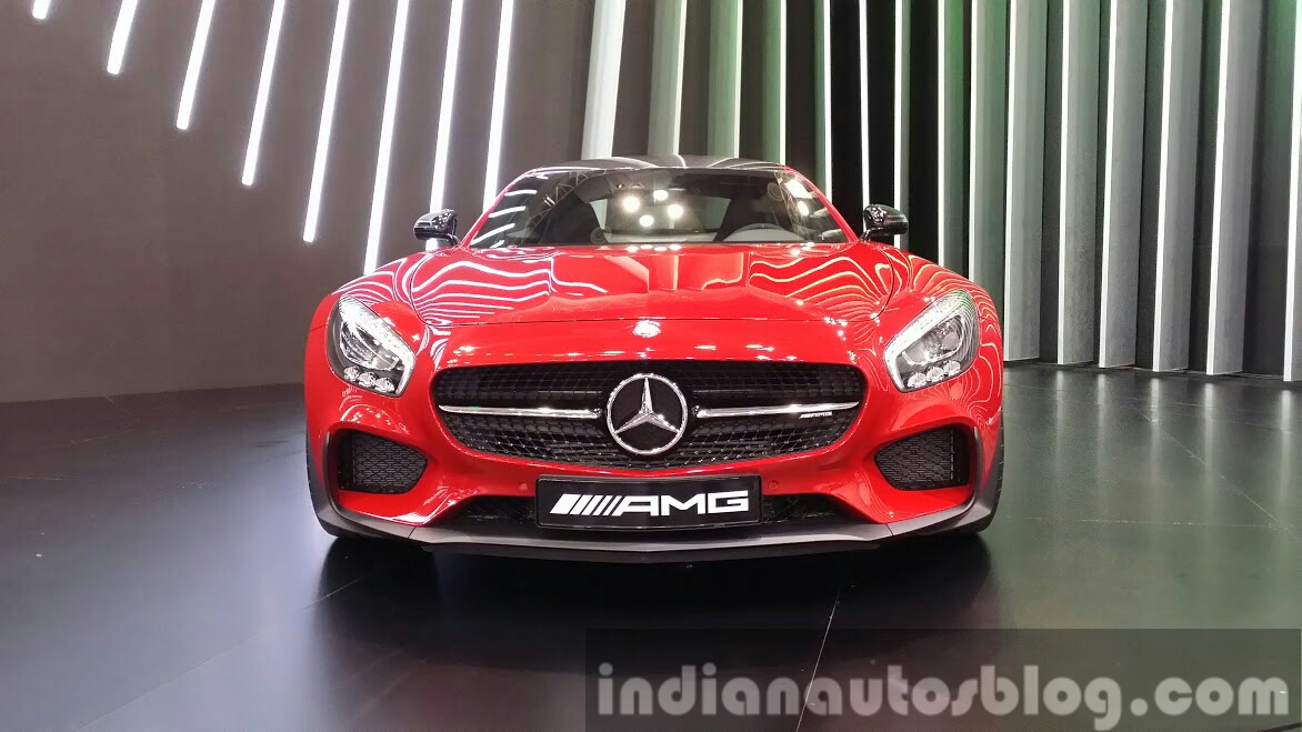 Mercedes AMG GT front at the Seoul Motor Show 2015