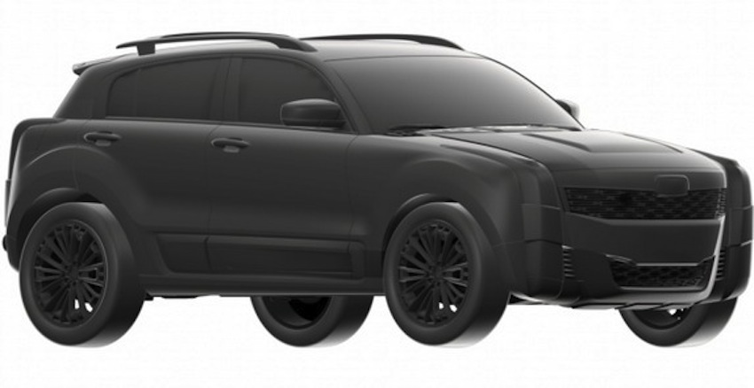 Qoros 2 SUV front three quarter teaser picture