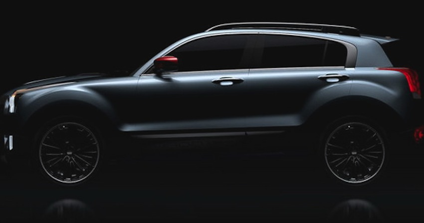 Qoros 2 SUV side teaser picture