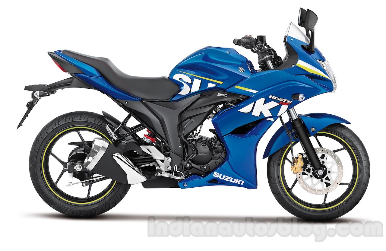 Suzuki Gixxer SF side press shot