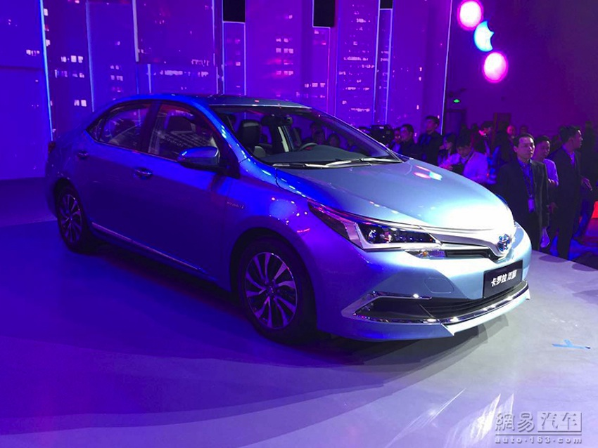 Toyota Corolla Hybrid front from Shanghai