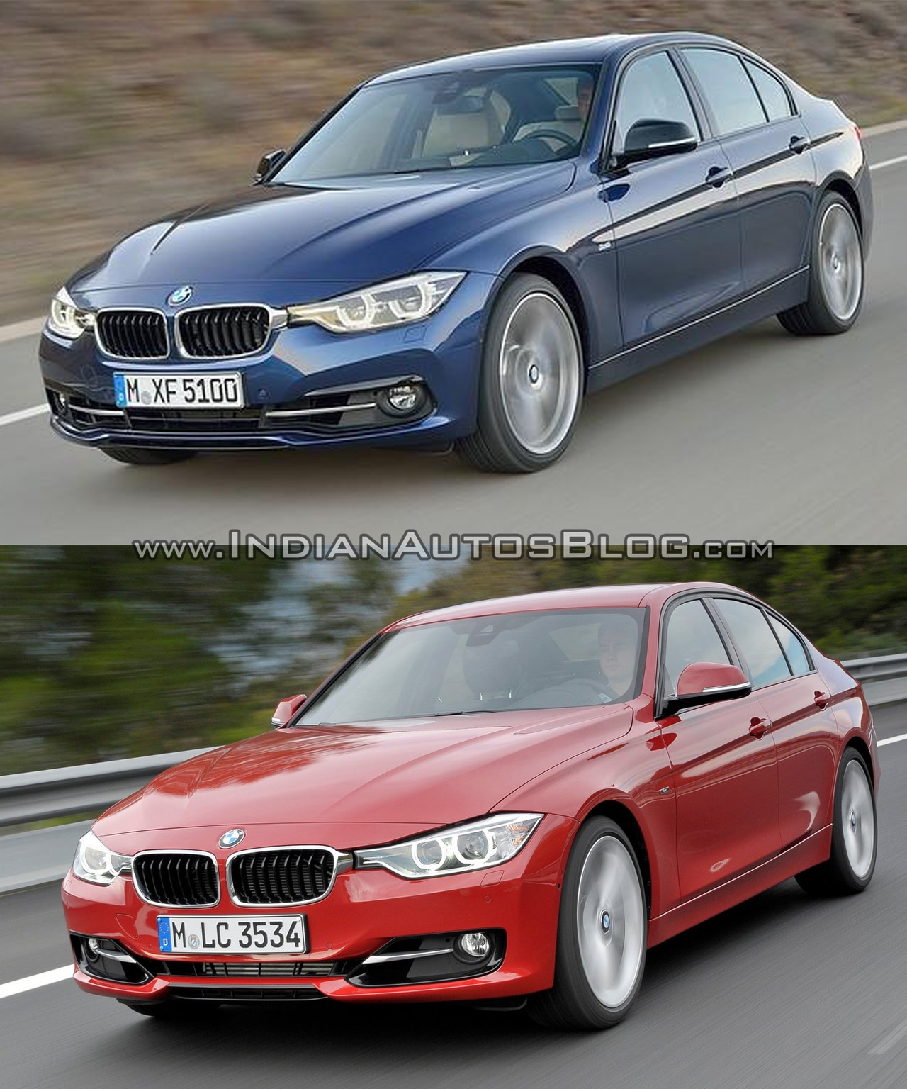 2015 bmw 3 series facelift vs older model old vs new. Black Bedroom Furniture Sets. Home Design Ideas