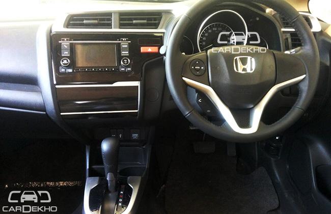 2015 Honda Jazz interior with CVT and paddle shifters