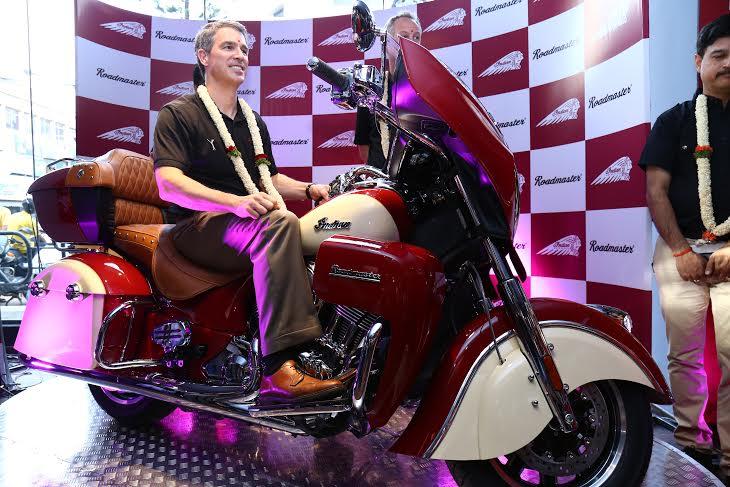 2015 Indian Roadmaster front three quarter - press image