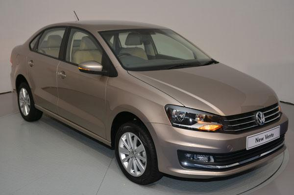 2015 Volkswagen Vento front three quarter indian spec facelift revealed