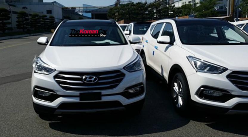 2016 Hyundai Santa Fe front leaked