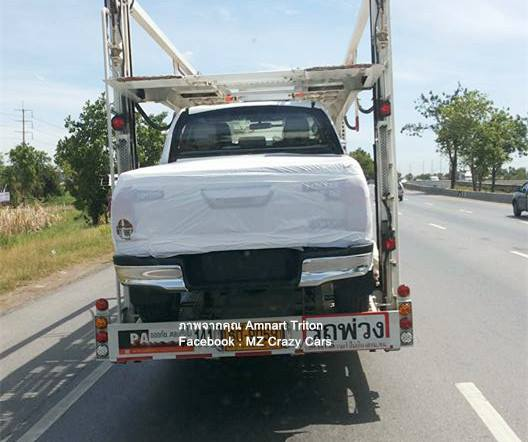 2016 Toyota Hilux Revo double cab rear spotted on a transporter