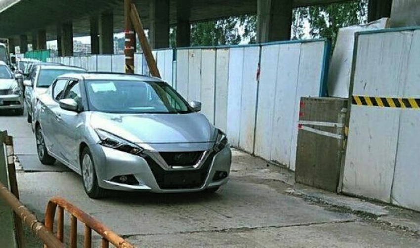 Nissan Lannia front spied on the street