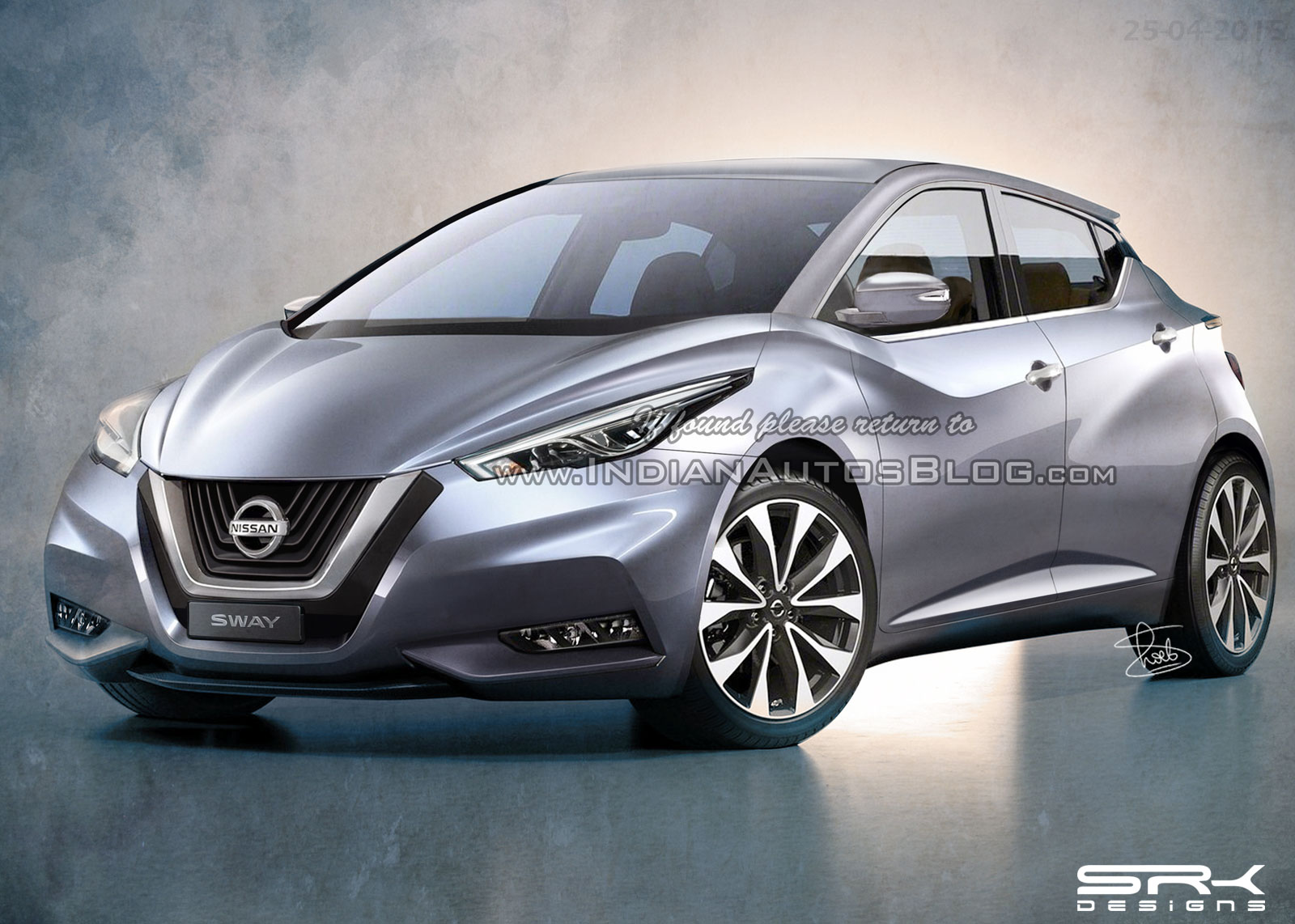 2017 Nissan Micra/Nissan Sway production version rendered