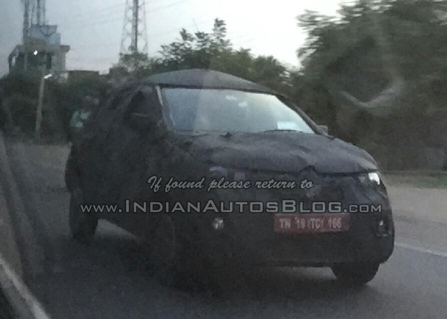 Renault XBA Renault Kayou front quarter Chennai spied