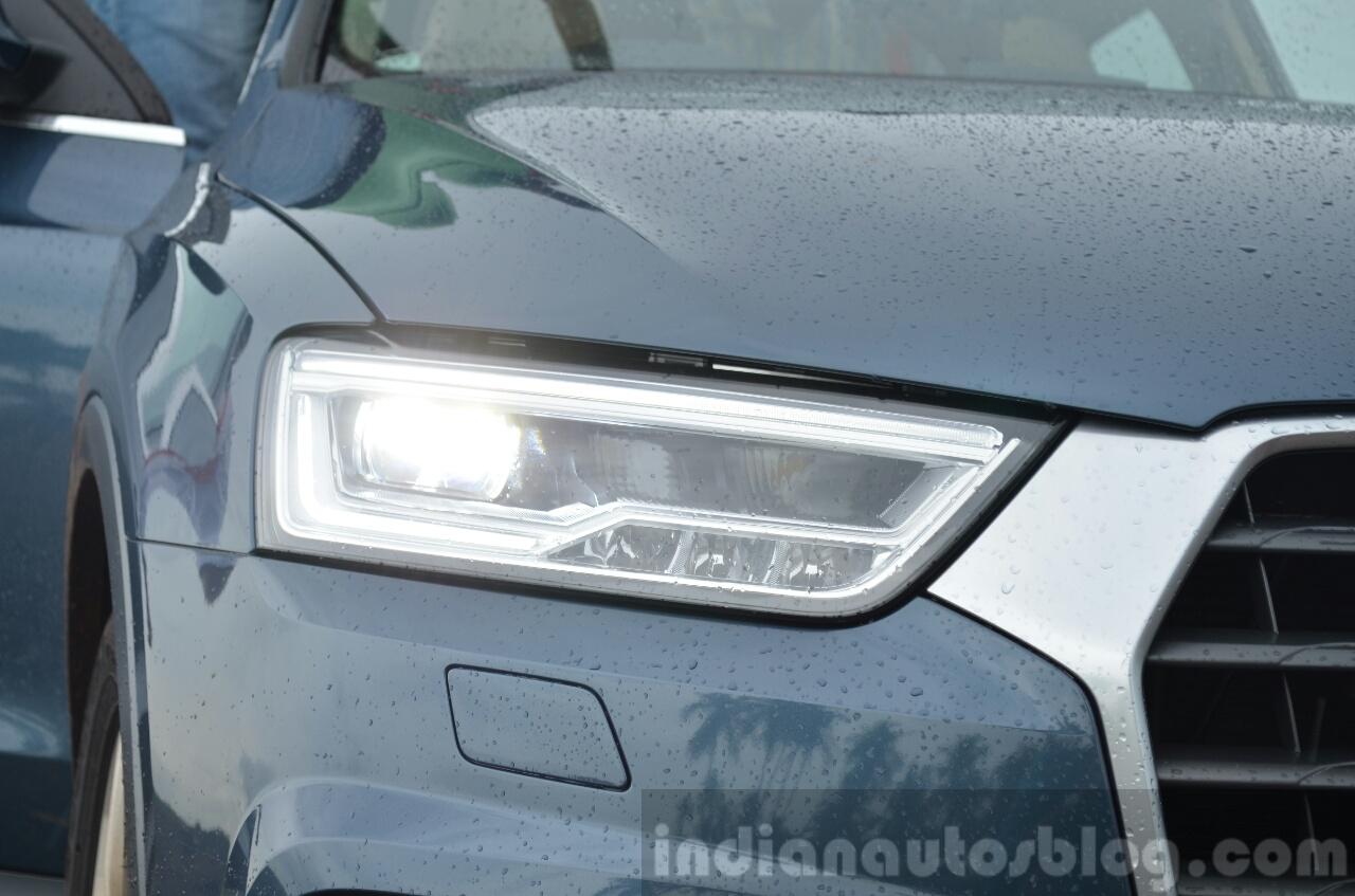 2015 Audi Q3 facelift LED headlights India Review