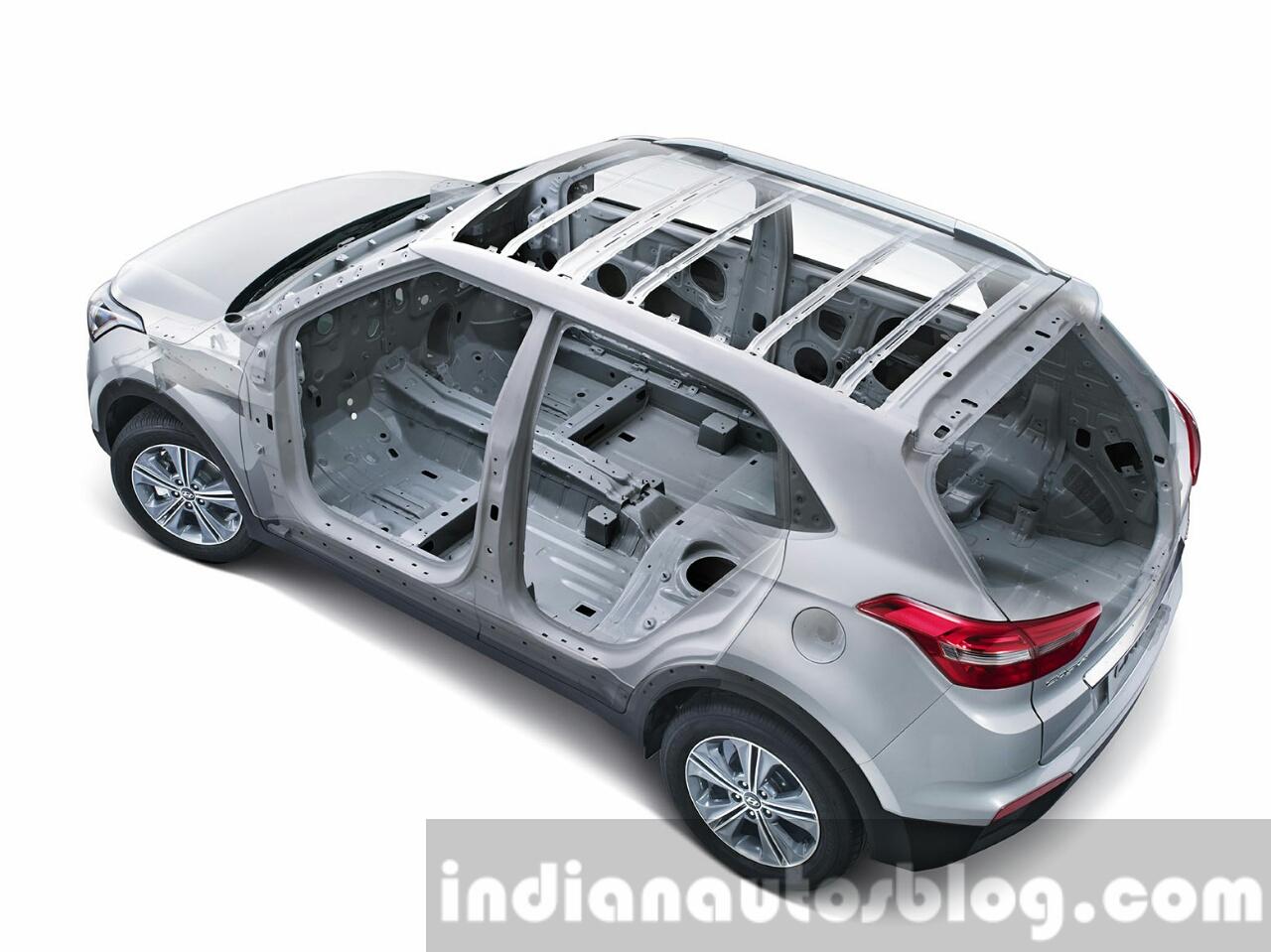 2015 Hyundai Creta HIVE body structure unveiled press image