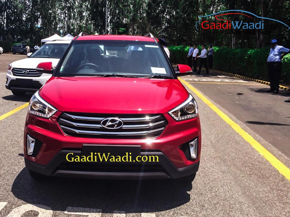 2015 Hyundai Creta front quarter spotted undisguised outside plant
