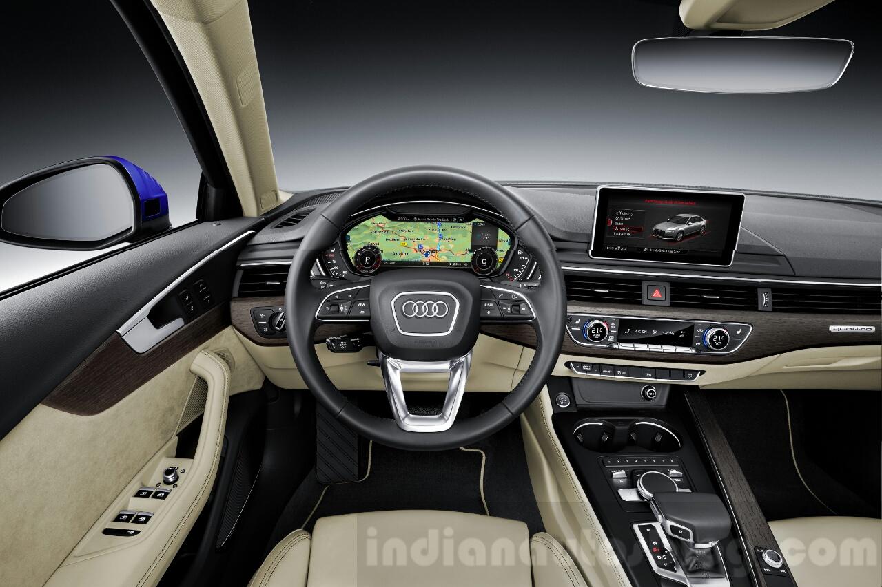 2016 Audi A4 dashboard press shots