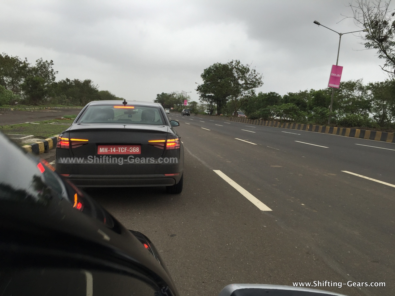 2016 Audi A4 prototype rear photographed testing in Mumbai