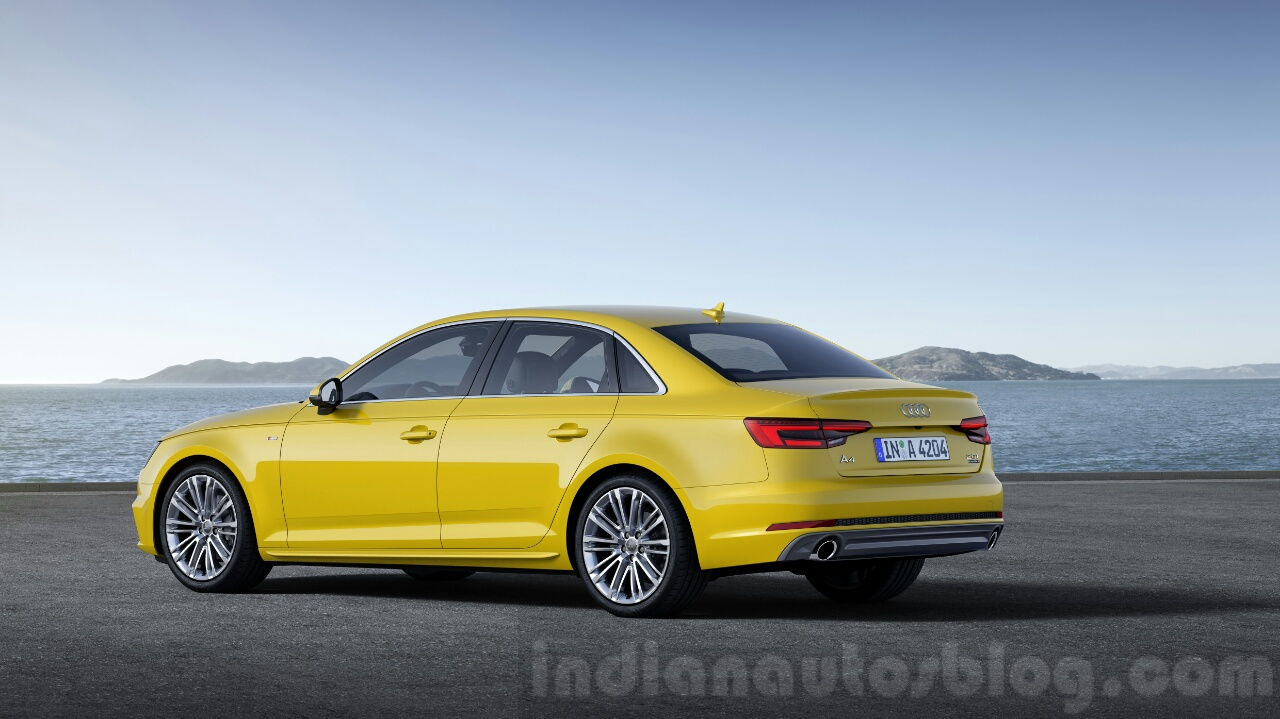 2016 Audi A4 rear quarter press shots
