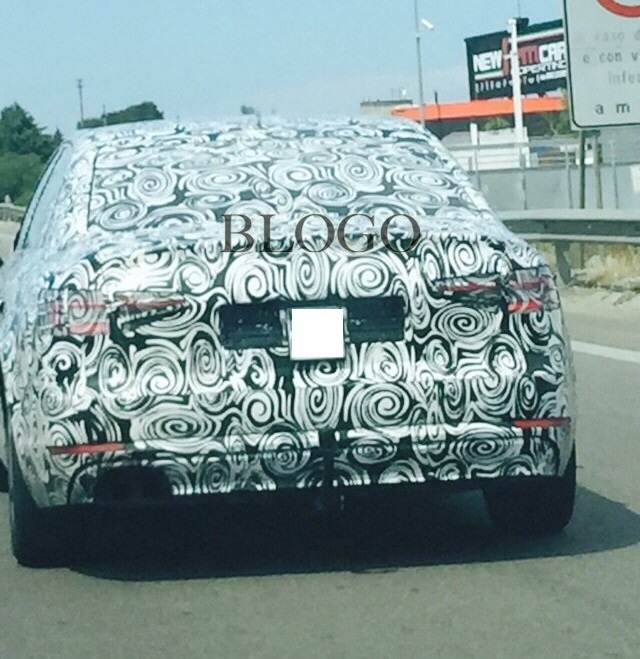 2016 Audi A4 rear spied in Italy.