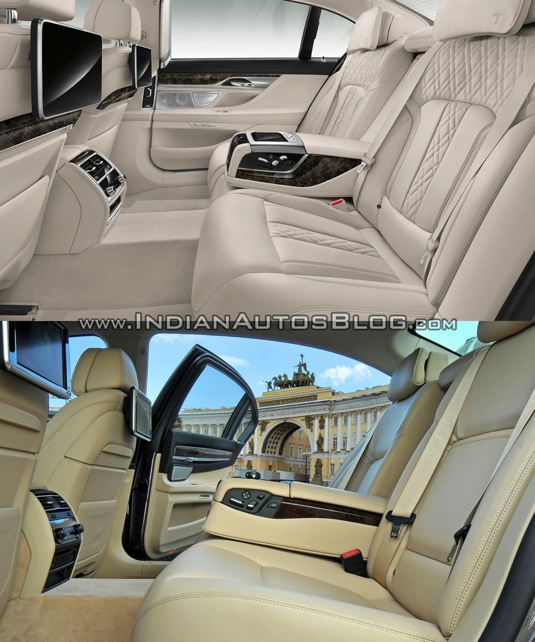 2016 BMW 7 Series vs 2014 BMW 7 Series rear cabin Old vs New