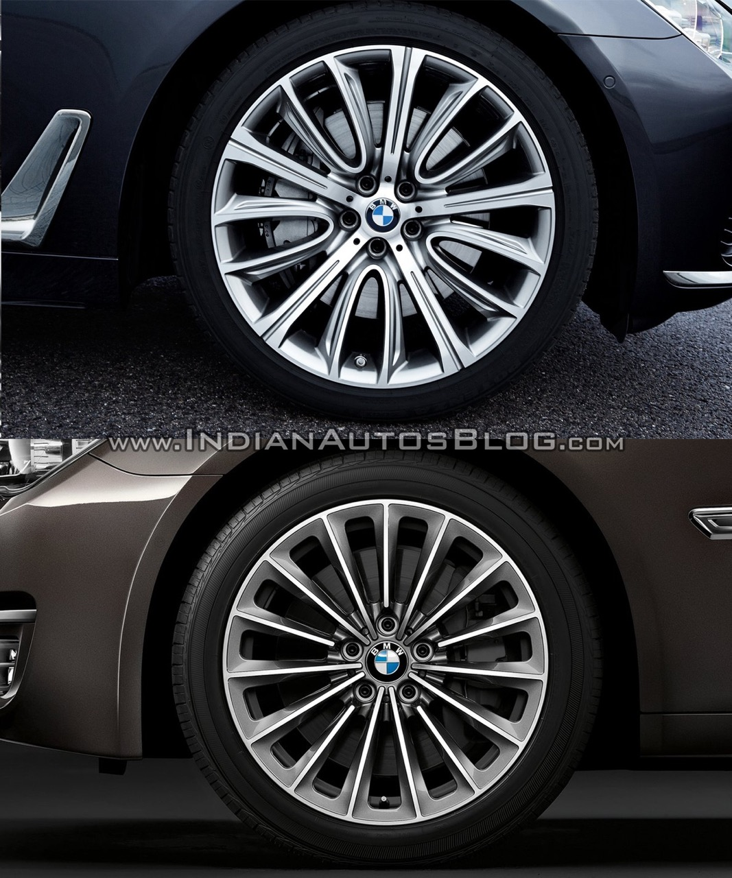2016 BMW 7 Series vs 2014 BMW 7 Series rims Old vs New